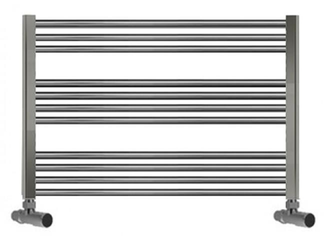 Flat Chrome Heated Towel Rails : 950mm Wide 600mm High