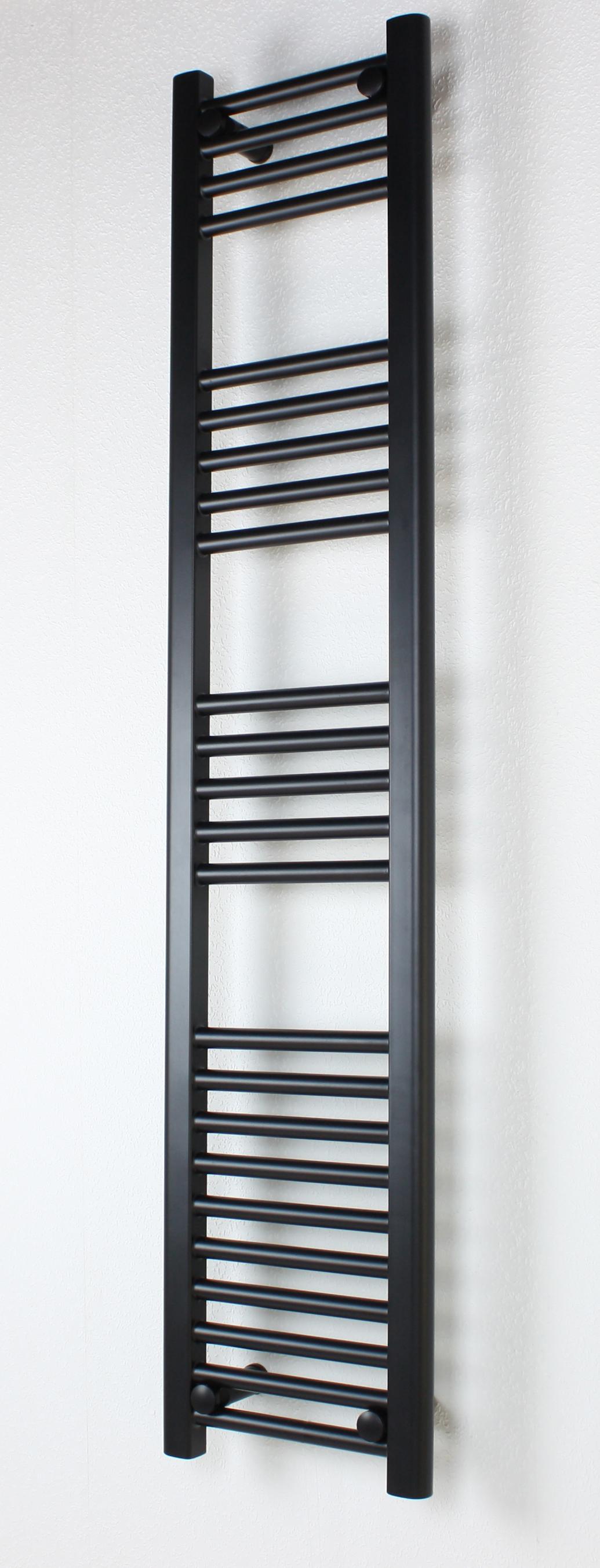 Black Heated Towel Rails Flat : 400mm Wide 1000mm High ...